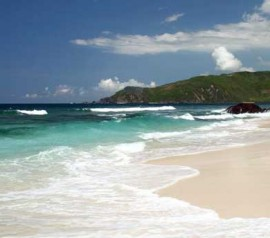 tanjung aan lombok island indonesia