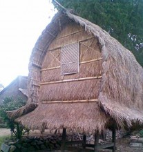 traditional house of sasak tribe